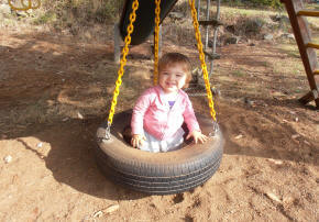 Tire swing at vacation rentals' play set